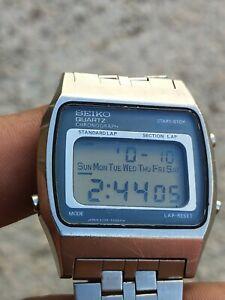 Seiko A229-5010 Cronograph Montre Vintage Rare