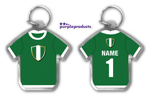 Personalised NIGERIA 2018 World Cup Football Team Supporters Keyring