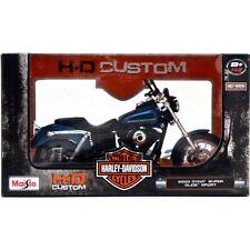 Maisto 2004 Harley Davidson Dyna Super Glide Sport Bike 112 Motorcycle Blue