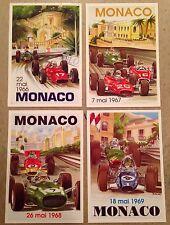 Monaco Grand Prix Postcard Set#9 To Find! 1st On eBay Car Poster. Own It!