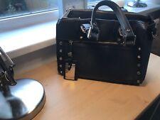 Black Leather Handbag By Dune
