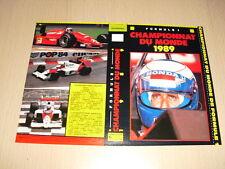 JAQUETTE VHS Formule 1 Championnat du monde 1989 Alain Prost Ayrton Senna