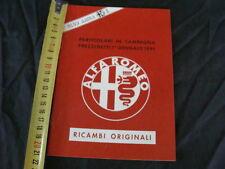 LISTINO PREZZI ALFA ROMEO RICAMBI ORIGINALI 1 GENNAIO 1991 OLD ITALY