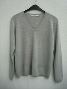 XANDRES Cashmere Pullover hellgrau 100%Cashmere Größe L