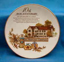 Avon 10th Anniversary Porcelain Collector's Plate California Perfume Co Japan
