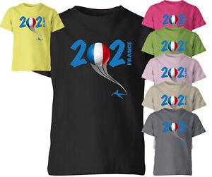 France 2021 Football Kids T Shirt Boys Soccer Training Jersey Sports Tee Top