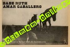 Babe Ruth Amar Caballero Harvest Rec. LP Advert MM-CSWO