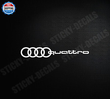 Decal Sticker For Audi Quattro Rings A3 A4 A5 A6 A7 A8 S4 S5 S6 R8