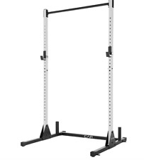 CAP Barbell Power Rack Exercise Stand Squat Rack PullUpBar White SHIPS NOW
