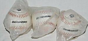 "3 New Demarini White 11"" Performance Softballs Max 375 lbs 44 COR ASA"