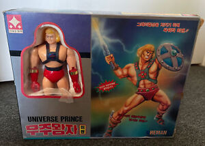 Rare 1980s He-Man Masters Of The Universe MOTU Korean Action Figure Toy MIB !