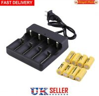 8X Battery 9900mAh 3.7V Li-ion Rechargeable Batteries with Charger + 4 Slots UK