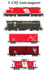 Central Railroad of New Jersey Freight Train 5 magnets Andy Fletcher