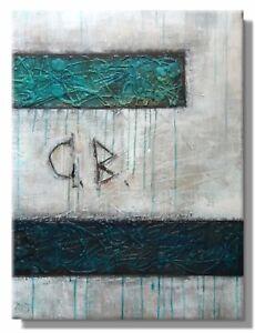 MALEREI KUNST Original abstrakt BILDER HANDGEMALT 60x80 Leinwand C. GOETHE