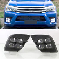 Fit 12-14 Toyota Hilux Vigo Champ MK7 Under Headlight Daytime Turn Signal Pair