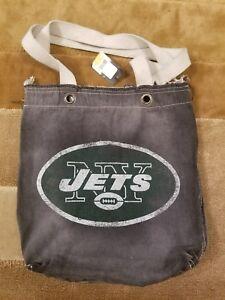 NEW NFL New York Jets BCA Vintage Tote Denim Bag LARGE