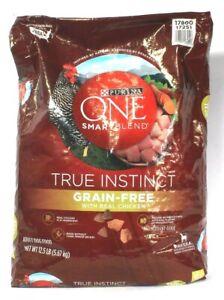 1 Purina One 12.5 Lb Smart Blend True Instinct Grain Free Real Chicken Dog Food