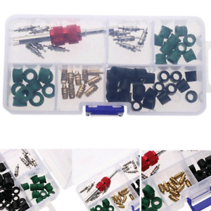 71x Car Air Conditioning Repair Valve Core Remover Tools A/C Hose Rubber Gaskets