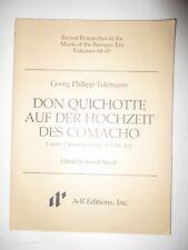 Don Quichotte Auf Der Hochzeit Des Comacho: Comic Opera-Serenata in One Act VF/0