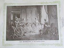BRODEUSE MADELEINE LEMAIRE SC 1858 ILLUSTRATION ANCIENNE