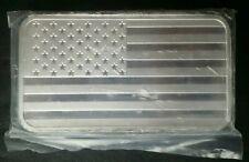 5oz Silver American Flag Bar in Plastic