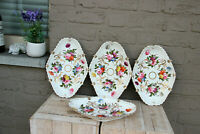 Set 4 Antique French vieux paris porcelain presentation trays plate  table
