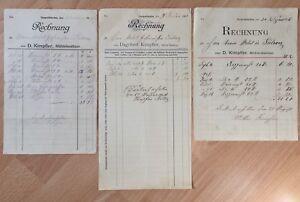 # 3 Rechnungen von 1900-1919 - Gospoldshofen Bad Wurzach - Mühle Kimpfler