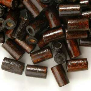 60g (Approx 800pcs) Tube Brown Wooden Wood Loose Spacer Loose Beads CA 2xWB0030