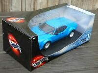 Hot Wheels 1:18 Blue Diecast 1976 De Tomaso Pantera GT5 S Italian Sports Car Toy