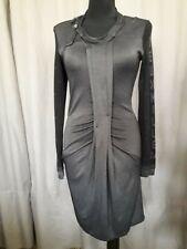 2026 DEUX MILLE VINGT SIX robe en maille grise satinée taille 3 manches jacquard