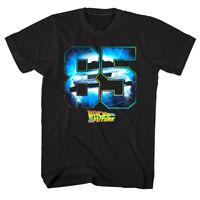 Back to The Future Eighty Five Men's T Shirt Time Machine Black 1985 DMC Vintage