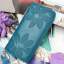 New Fashion Lady Women Genuine Leather Purse Long Wallet Phone Card Zip Handbag