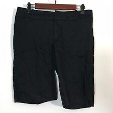 Mossimo Shorts Women Size 8 Black Bermuda