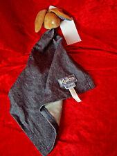 New rare Kaloo Bunny Rabbit denim Blanket Comforter Boxed soft plush baby toy