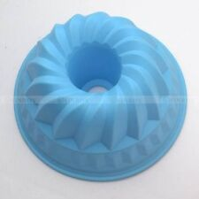 Bakeware Mould Decor Silicone Swirl Bundt Ring Cake Bread Pastry Mold Tray Pan