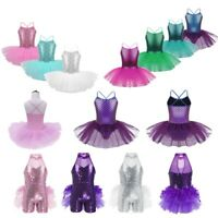 Toddler KIds Girls Ballet Leotard Tutu Dress Lyrical  Dancewear Gymnastics Cloth