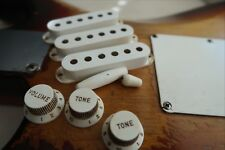 '55 - '59 Fender Stratocaster knobs PU covers  56 Relic Aged White Strat '57 '58
