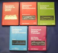 Obermayer 5 Taschenbücher Deutsche Triebwagen, Elektromotiven u.a. 1971-1978 js