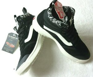 Vans Womens UltraRange Hi DI MTE All Weather Boots Woven Black White Size 7.5