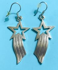 Shooting Stars Earrings 1 3/4� Rare Taxco Mexico 925 Sterling Silver 925