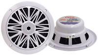 Pair New Pyle PLMR62 200 Watts 6.5'' 2 Way White Marine Speakers Kit