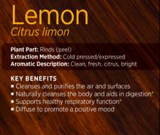 60%OFF doTERRA Lemon 2x5ml Therapeutic Grade Pure Essential Oil Aromatherapy
