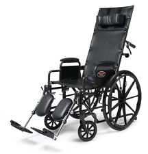 Everest & Jennings Advantage Recliner Wheelchair 20x17 w/Full Arms