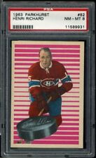 1963 Parkhurst #82 Henri Richard PSA 8 NM-MT