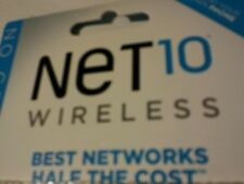Net10 Standard Sim Card for use with At&T phones. Unlimited Talk Text, WeB