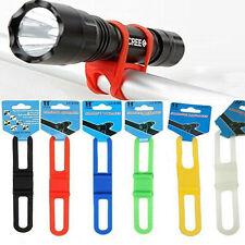 2/5Pcs Bicycle Cycling Silicone Elastic Strap Bandage Light Lamp Mount Holde*nv