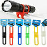 Bike Bicycle Cycling Silicone Elastic Bind Strap Mount Holder for Lights Phone F