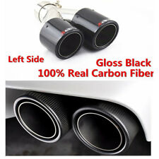 Glossy Black Real Carbon Fiber Dual Pipes Car SUV Carbon Fiber Muffler End Tips