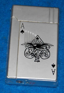Ace Of Spades Playing Card, Green Torch Lighter, New