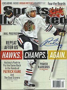 PATRICK KANE signed autographed SPORTS ILLUSTRATED CHICAGO BLACKHAWKS wCOA PROOF